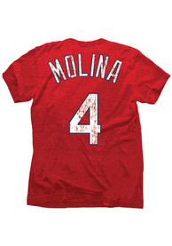 Yadier Molina STL Cardinals Red yadier molina player tee Fashion Player Tee