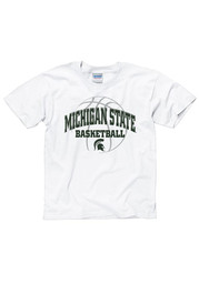 Michigan State Spartans Youth White Bevel T-Shirt