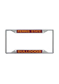 Ferris State Bulldogs Team Name Chrome License Frame