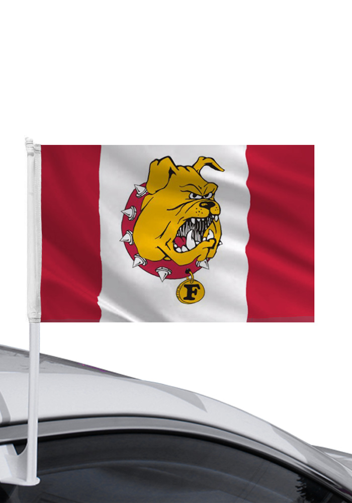 Ferris State Bulldogs 11x16 Red & White Car Flag - Red - Image 1