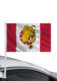 Ferris State Bulldogs 11x16 Red White Car Flag - Red