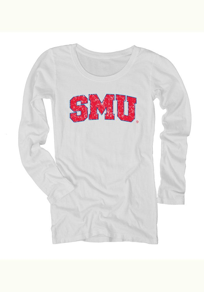 Mustangs Juniors White Dyed Long Sleeve Scoop Neck - Image 1