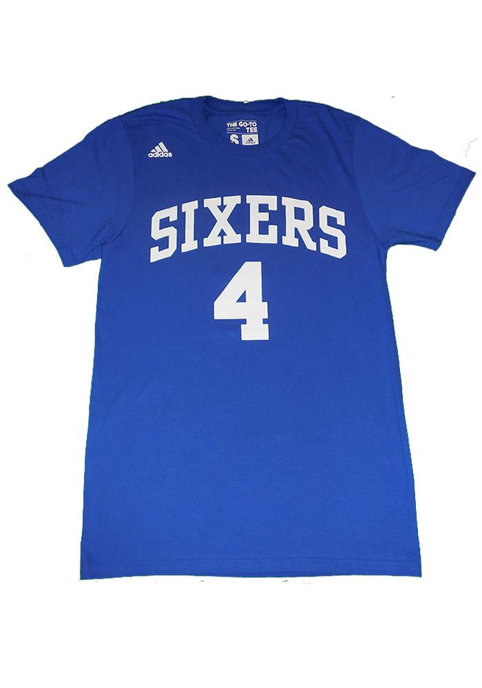 Nerlens Noel Philadelphia 76ers Blue Gametime Short Sleeve Player T Shirt - Image 2