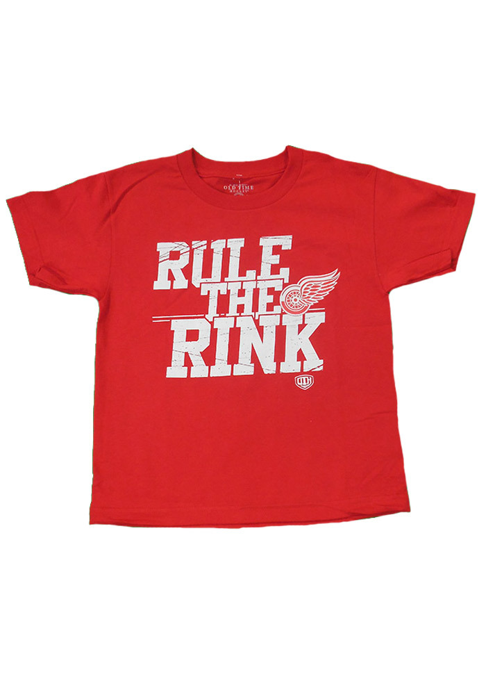 Detroit Red Wings Youth Red Youth Slice Short Sleeve T-Shirt - Image 1