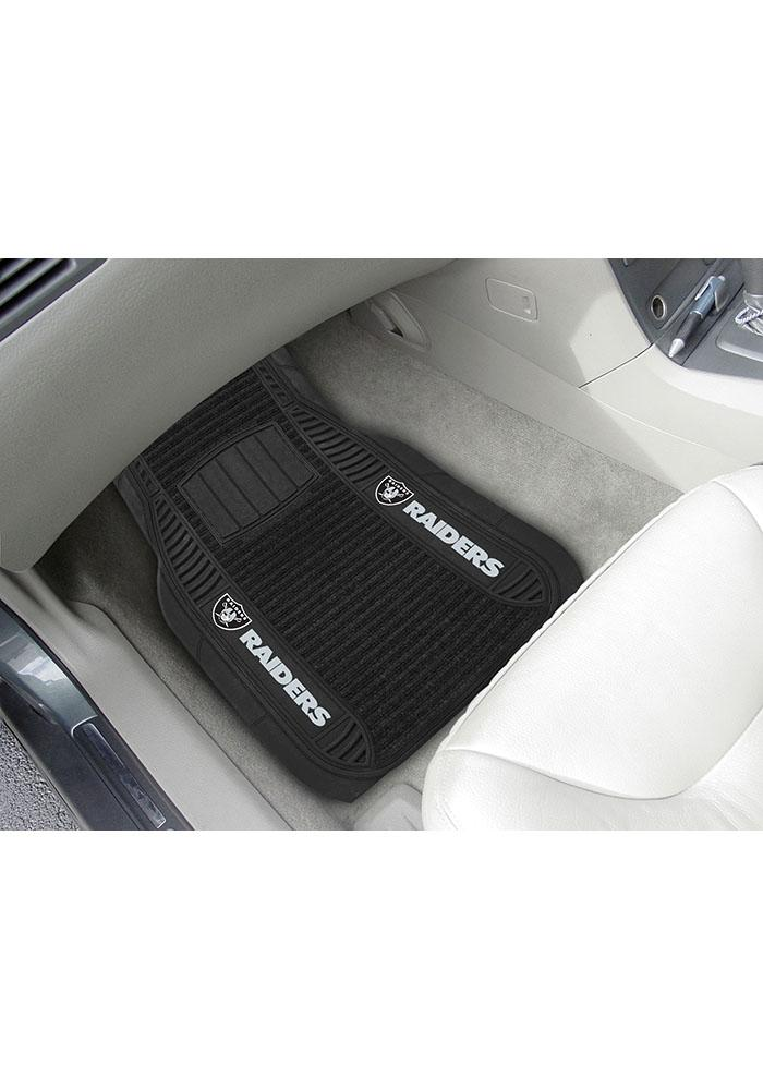 Sports Licensing Solutions Oakland Raiders 21x27 Deluxe Car Mat - Black - Image 1