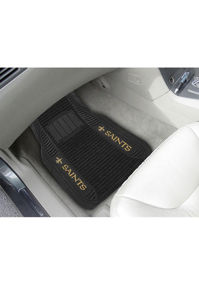 Sports Licensing Solutions New Orleans Saints 21x27 Deluxe Car Mat - Black - Image 1