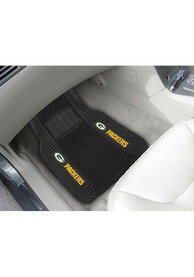 Sports Licensing Solutions Green Bay Packers 21x27 Deluxe Car Mat - Black