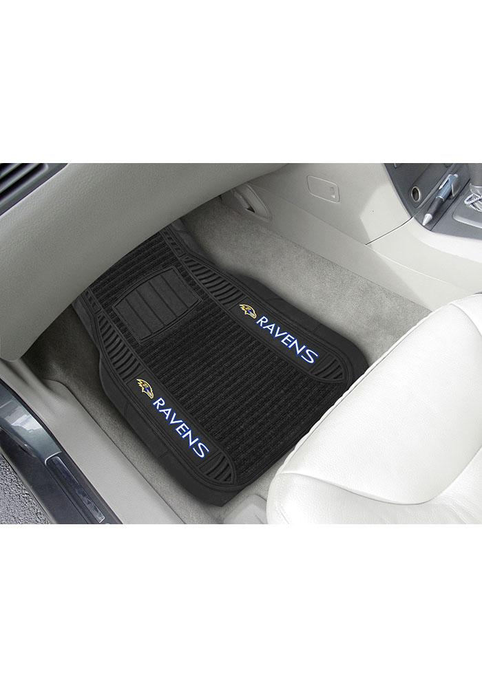 Sports Licensing Solutions Baltimore Ravens 21x27 Deluxe Car Mat - Black - Image 1