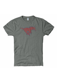SMU Mustangs Grey Fade Out Tee