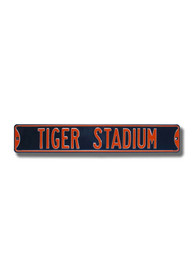 Detroit Tigers Stadium Street Sign