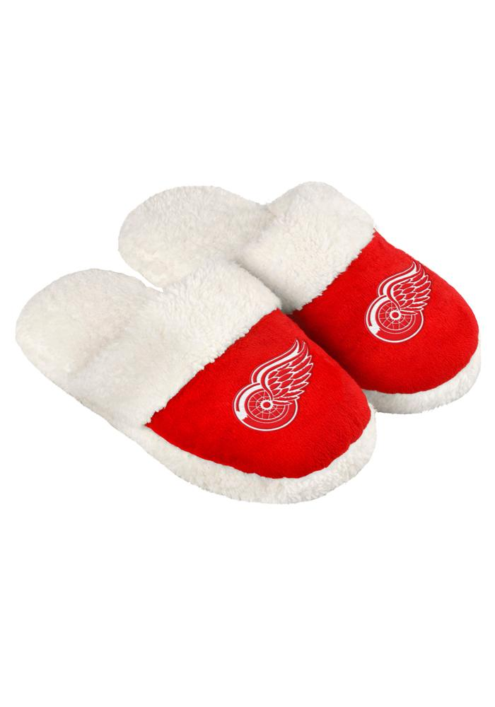 Detroit Red Wings Sherpa Slide Womens Slippers - Image 1