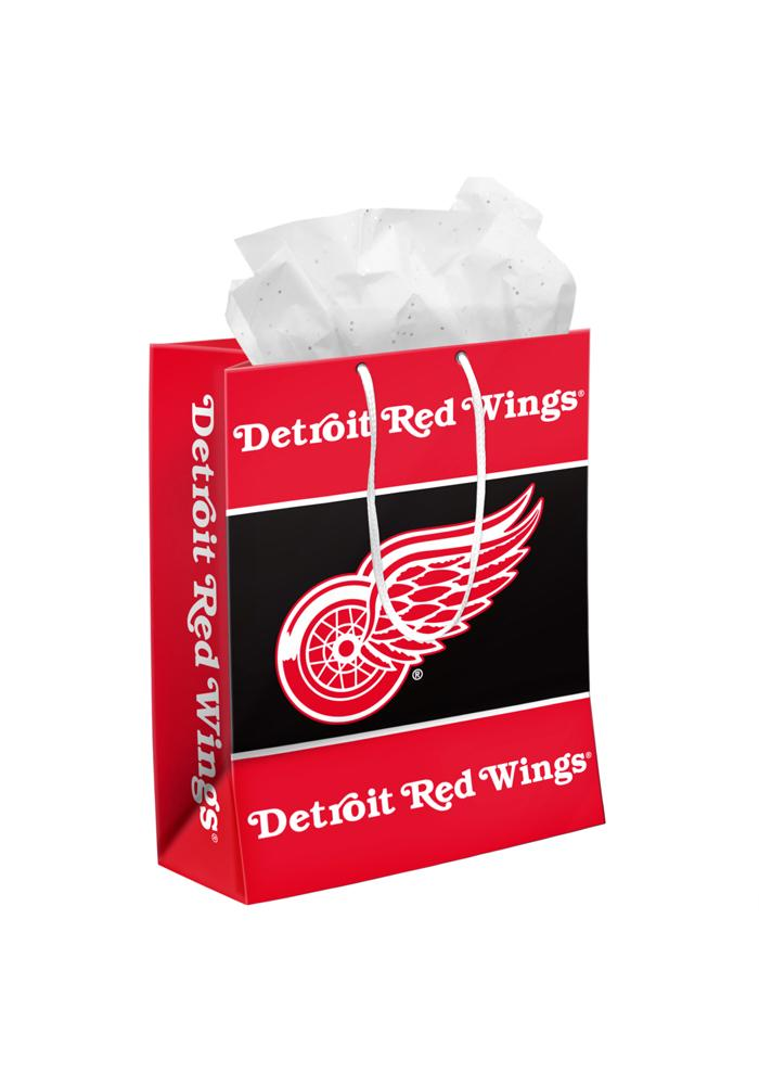 Detroit Red Wings Medium Red Gift Bag - Image 1