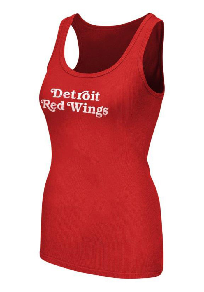 Detroit Red Wings Womens Red PreSeason Tank Top - Image 1