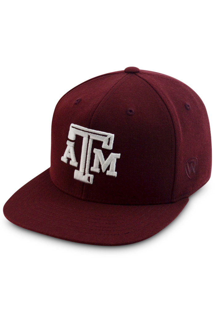 Top of the World Texas A&M Aggies Mens Maroon Prime Fitted Hat - Image 1