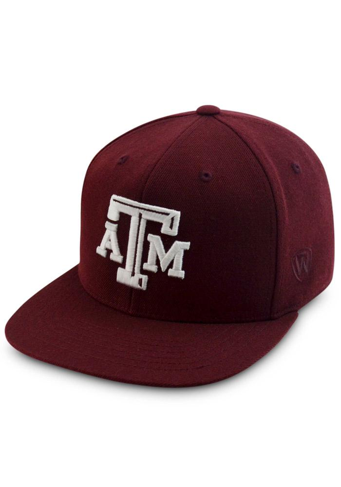 Top of the World Texas A&M Aggies Mens Maroon Prime Fitted Hat - Image 2