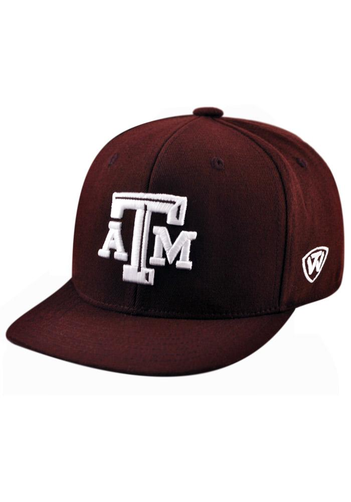 Top of the World Texas A&M Aggies Mens Maroon Slam 1Fit Flex Hat - Image 2