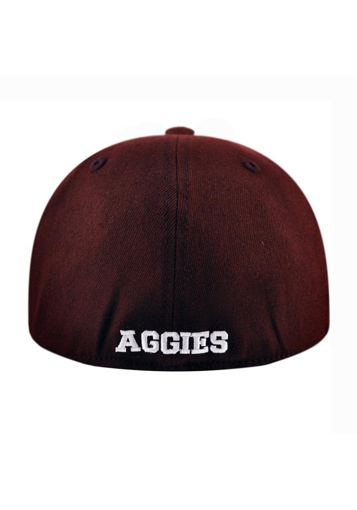 Top of the World Texas A&M Aggies Mens Maroon Slam 1Fit Flex Hat - Image 3