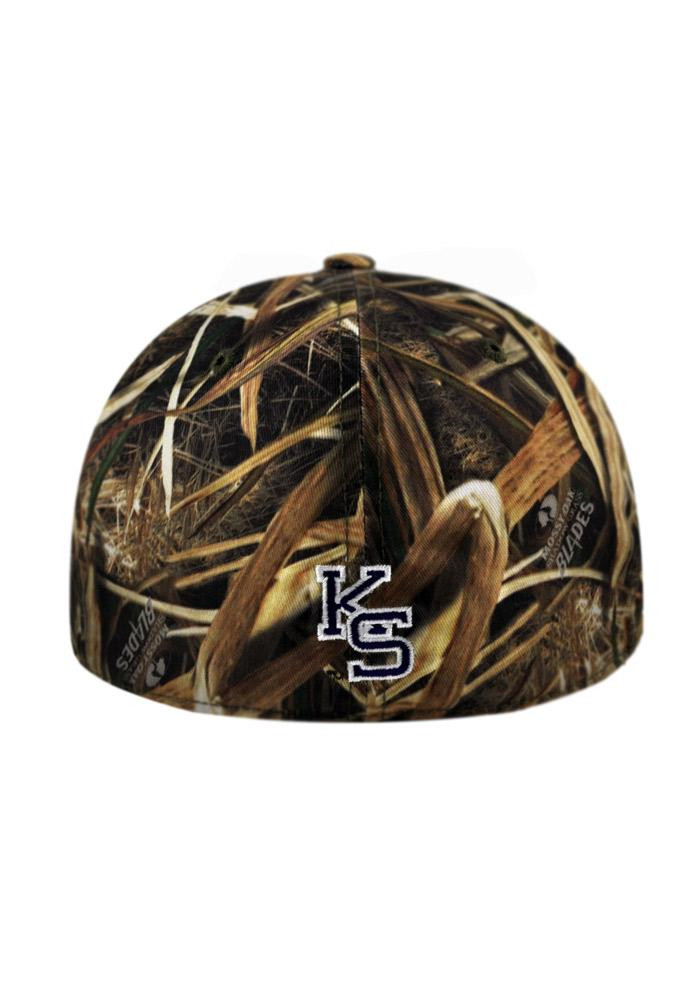 Top of the World K-State Wildcats Mens Green Blade Camo 1Fit Flex Hat - Image 3