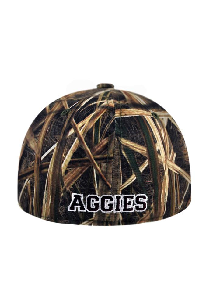 Top of the World Texas A&M Aggies Mens Green Blade Camo 1Fit Flex Hat - Image 2