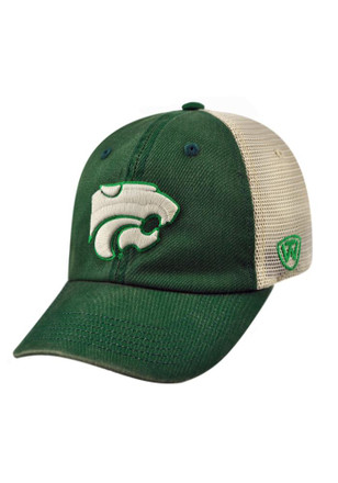 Top of the World K-State Wildcats Mens Green Vintage Luck Adjustable Hat