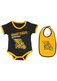 Colosseum Missouri Western Griffons Baby Black Logo One Piece with Bib