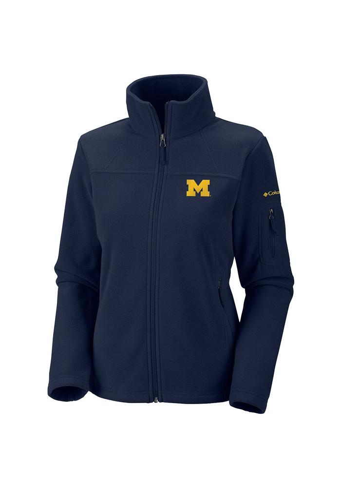 Columbia Michigan Wolverines Juniors Navy Blue Give & Go Light Weight Jacket - Image 1