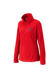 TTech Red Raiders Womens Glacial red 1/4 Zip Pullover