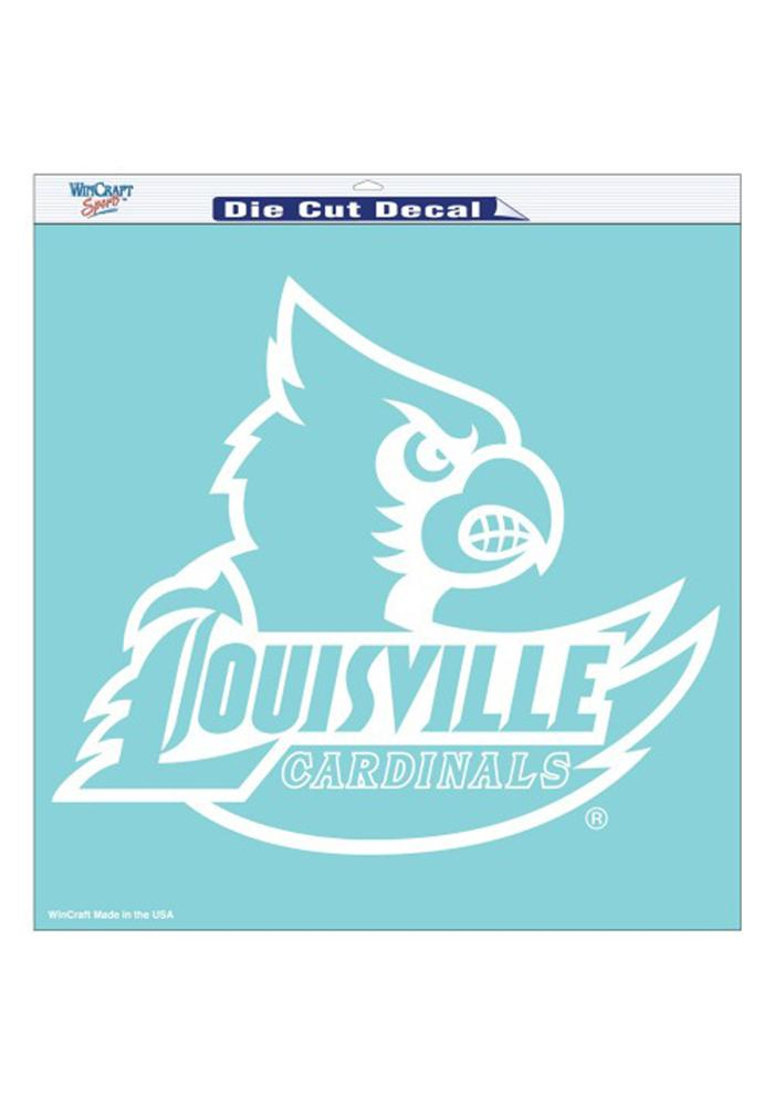 Louisville Cardinals 8x8 White Perfect Cut Decal - Image 1