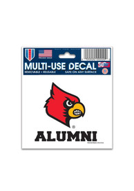 Louisville Cardinals 3x4 Alumni Auto Decal - Red