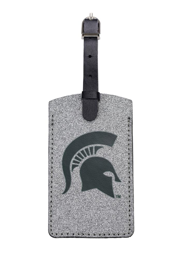 Michigan State Spartans Sparkle Luggage Tag - White