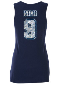 Tony Romo Dallas Cowboys Womens Navy Blue Go Team Tank Top
