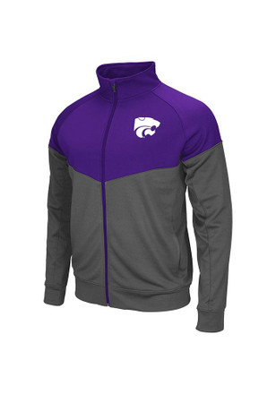 Colosseum K-State Wildcats Mens Purple Charger Track Jacket