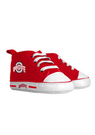 Ohio State Buckeyes Baby Slip On Shoes - Red