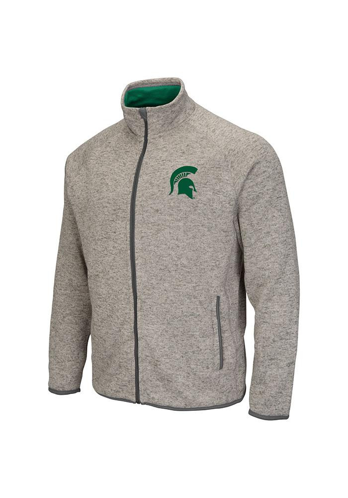 Colosseum Michigan State Spartans Mens Grey Backcountry Medium Weight Jacket - Image 2