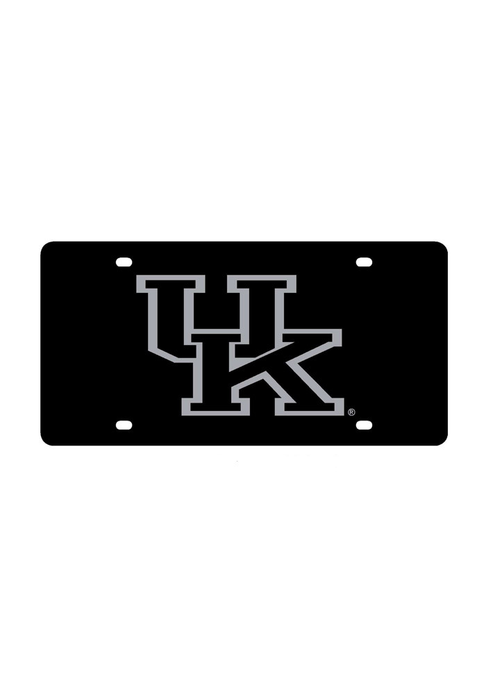 Kentucky Wildcats Silver Logo Car Accessory License Plate - Image 1