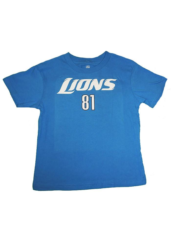 Calvin Johnson Detroit Boys Blue Boys 4-7 Calvin Johnson T-Shirt 13341806