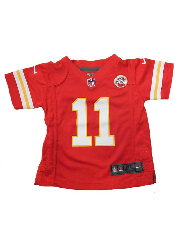 Alex Smith Kansas City Chiefs Toddler Red Game Jersey - Image 1