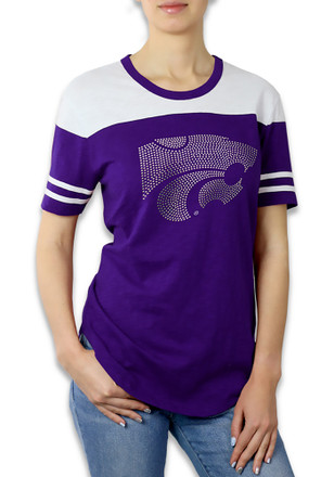 K-State Wildcats Womens Color Block Purple T-Shirt
