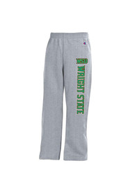 Wright State Raiders Youth Grey Open Bottom Sweatpants