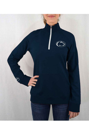 Penn State Nittany Lions Womens Terry Tackle Navy Blue 1/4 Zip Pullover