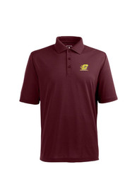 Antigua Central Michigan Chippewas Maroon Pique Extra Lite Short Sleeve Polo Shirt