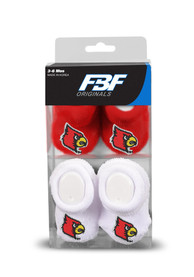 Louisville Cardinals Baby 2pk Knit Bootie Boxed Set - Red