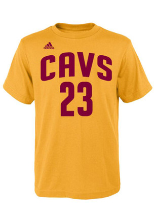LeBron James Outer Stuff Cleveland Cavaliers Kids Youth LeBron James Gold Player Tee