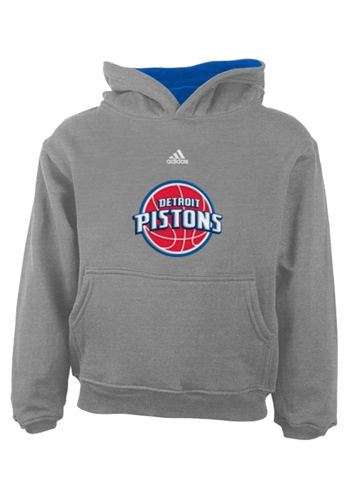 Detroit Pistons Toddler Grey Toddler Pullover Long Sleeve Hooded Sweatshirt - Image 1
