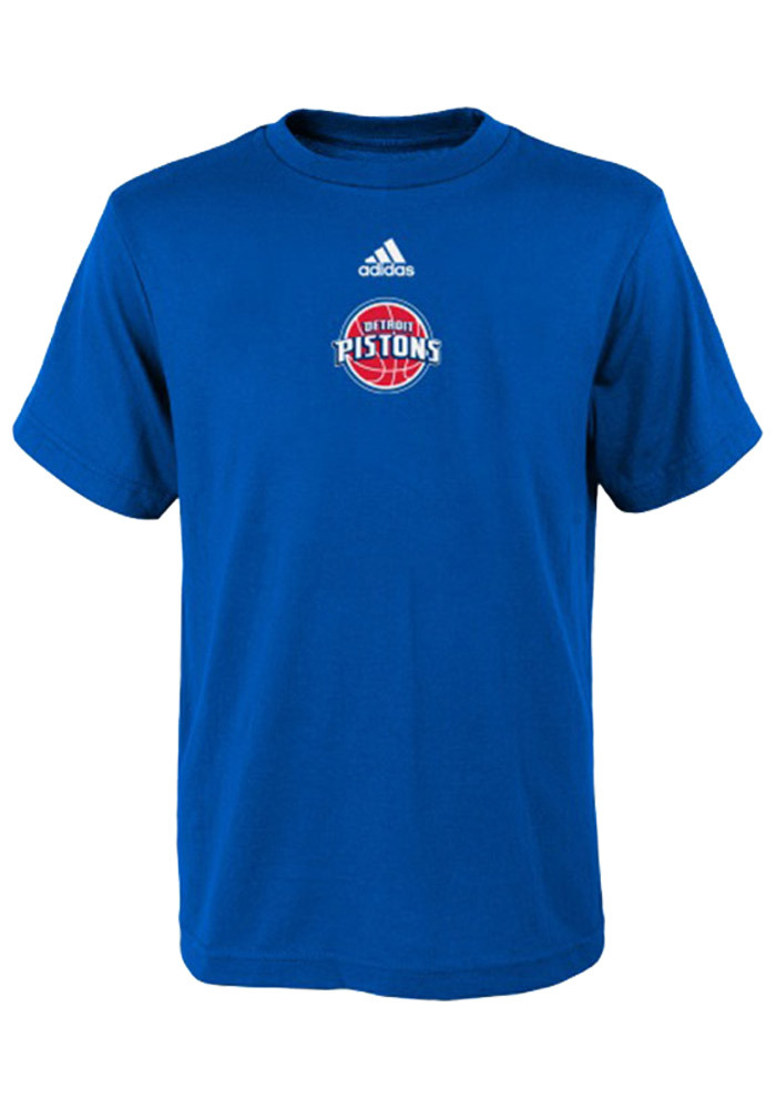 Detroit Pistons Youth Blue Youth Pre-Game Short Sleeve T-Shirt - Image 1