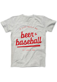 Series Six St Louis Grey Beer and Baseball Short Sleeve T Shirt
