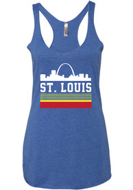 Series Six St Louis Womens Blue Retro Skyline Tank Top