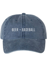 St Louis Series Six Beer and Baseball Denim Adjustable Hat - Blue