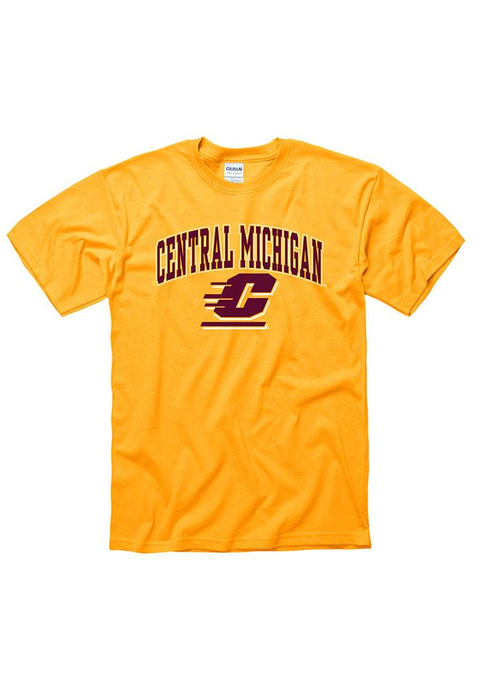 Central Michigan Chippewas Gold Arch Logo Tee