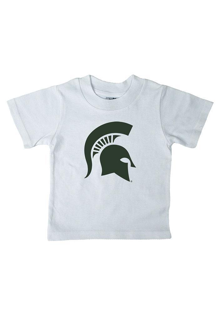 Michigan State Spartans Infant Logo Short Sleeve T-Shirt White - Image 1